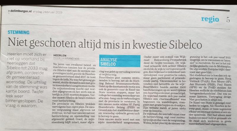 Wijkraad achter Sibelco