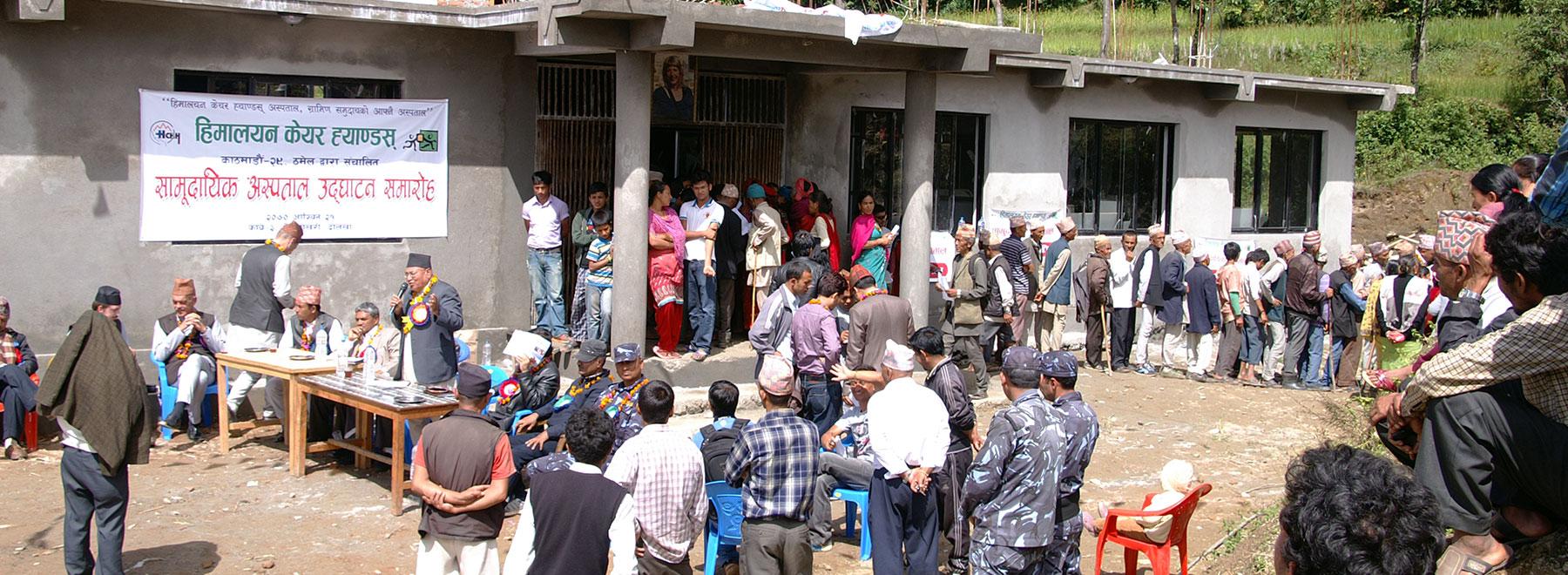 Ziekenhuis in de Himalaya's